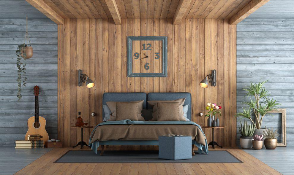 Idealna sypialnia w stylu rustykalnym - sprawdź co się powinno w niej znaleźć